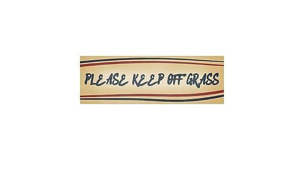 5-Pack Nautical Stripes Window Cling CGSignLab 30x20 Please Keep Off Grass