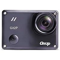 GIT2PANA170 GitUp Git2P (170 FOV) 2017 Updated Panasonic Sensor Action Camera Pro Pack 170 Degree Lens 2160P 24fps 1080P 60fp ActionCam (BLACK)