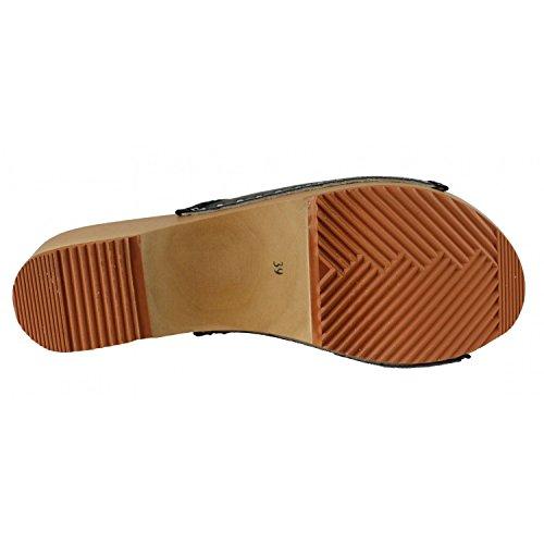 Janex Negro tacón negro de zapatos Mujer 6f6wrU8xq