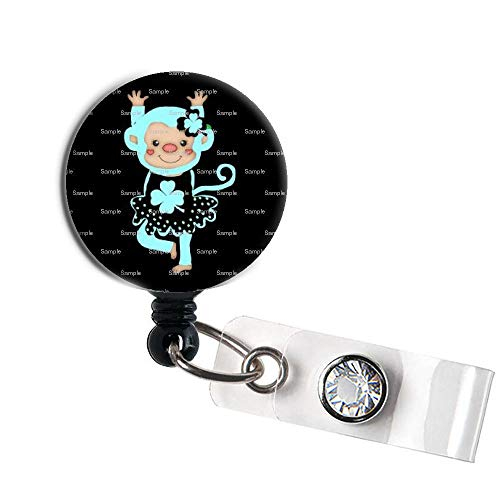 - LOVEKITTY - Sock Monkey Princess Retractable Swivel Clip ID Badge Reel/Name Badges/ID Badge Holder for Doctor Nursing Badge Xray Tech Medical Co Worker/Teacher Nurse Great Gift Idea (9)