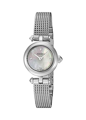 Gucci Women's Swiss Quartz Stainless Steel Dress Watch, Color:Silver-Toned (Model: YA141512)
