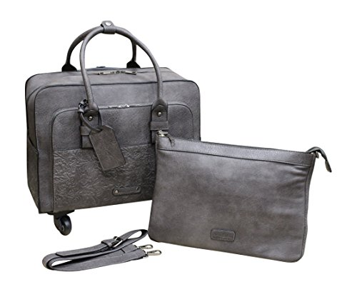 Simply Noelle Tooled Roller Bag (Slate) by Simply Noelle