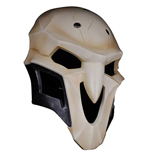 Gmasking Halloween Cosplay Mask Collectibles 1:1 Replica Props White ()