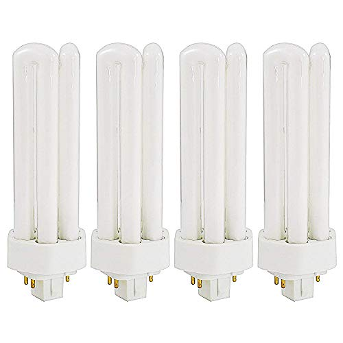 Luxrite LR20400 (4-Pack) CF32DT/E/827 32-Watt Triple Tube Compact Fluorescent Light Bulb, Warm White, 2700K, 2400 Lumens, GX24Q-3 4-Pin (3 Warm White Compact)