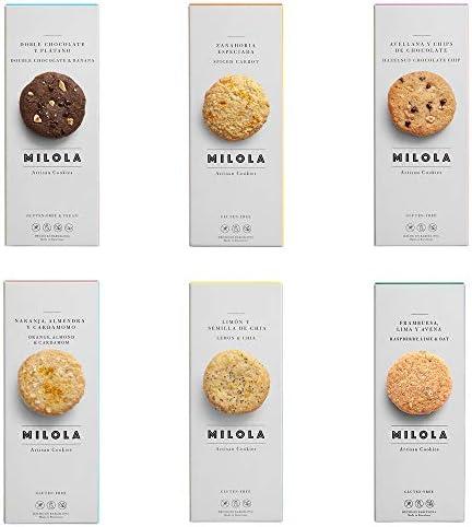 MILOLA Galletas Gluten Free. Pack 6 Cajas
