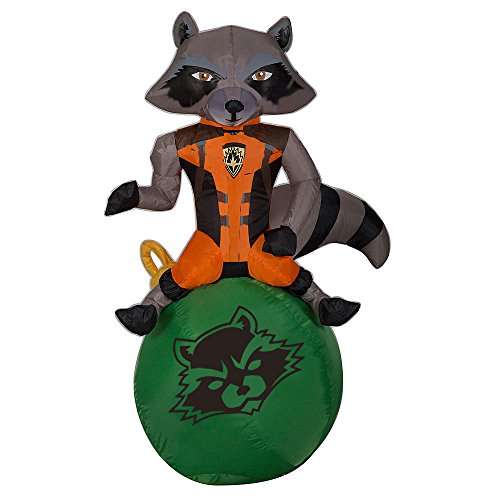 Inflatable Christmas Ornaments (Christmas LED Guardians of the Galaxy Rocket on Ornament Airblown Inflatable 3 Feet Tall)