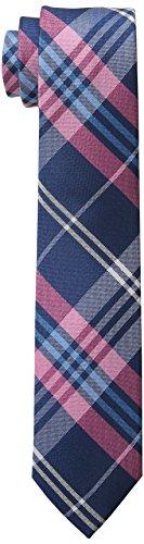 Wembley Men's Caen Plaid Tie,Pink,One Size