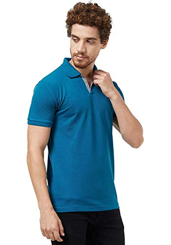 Wear Your Opinion Men's Cotton Stylist Slim Fit Collar Neck Polo T-Shirt