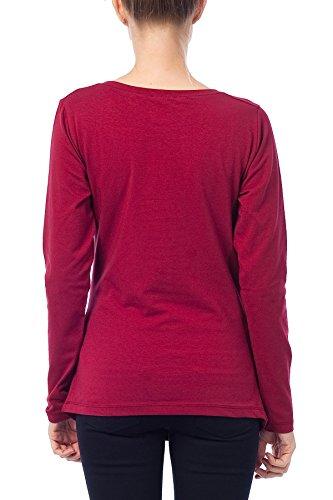 Verkauft von Mamimode - Camiseta de manga larga - para mujer rojo oscuro