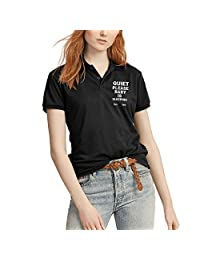 Outdoorpolo Shirtswomens Quiet Please Baby Is Sleeping Cotton Polo Short Sleevecasual Training Polo Shirt