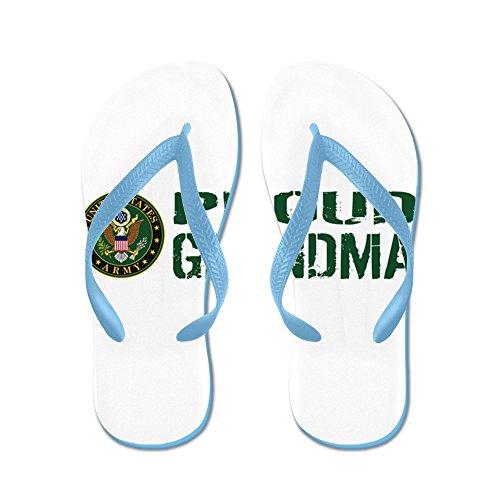 Cafepress Us Army: Orgogliosa Nonna (verde E Bianco - Infradito, Divertenti Sandali Infradito, Sandali Da Spiaggia Blu Caraibico