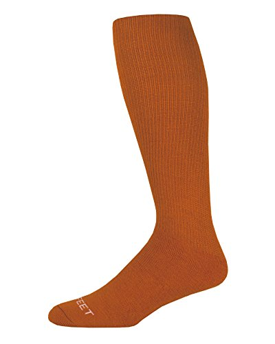 Pro Feet Multi-Sport Cushioned Acrylic Tube Socks, Texas Orange, Small/Size 7-9 ()