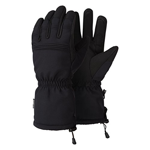 Alpine Owl Alta Waterproof Softshell Ski Gloves Warm Thermal Winter Cold Weather Gloves Black Medium
