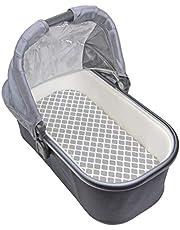 Kushies Baby Fitted Bassinet Sheet, Grey Lattice