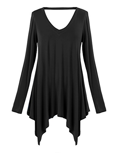 Ssyiz Women Plus Size Long Sleeve Tunic Tops Loose Basic Shirt