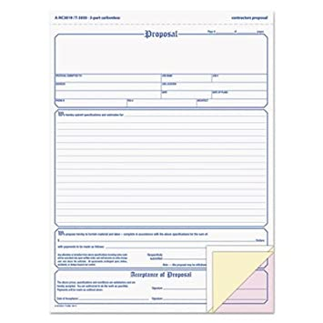amazon com top3850 proposal form blank purchase order forms