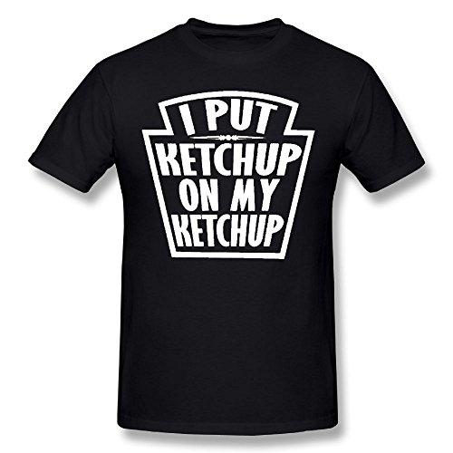 Grudjj Man's I Put Ketchup On Ketchup Men's Comfortable Cotton Short-Sleeved T-Shirt - Gilbert San Tan