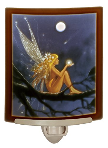 Catch a Falling Star - Lithophane Curved Color Porcelain Nightlight By Delamare