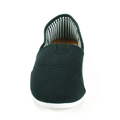 Alpine Swiss Womens Cotton Slip On Shoes Comfort Slipper Casual Flats Black nLibiBGaXb