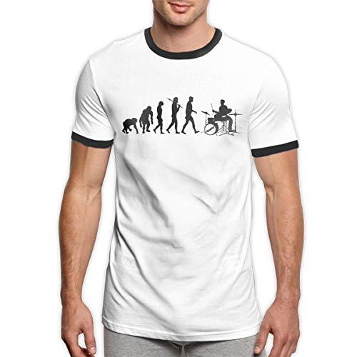 Republican Ringer T-shirt - Fourcllq Drum Set Drummers Funny Drumming Music Evolution Personality Men's Ringer T-Shirt XL Black