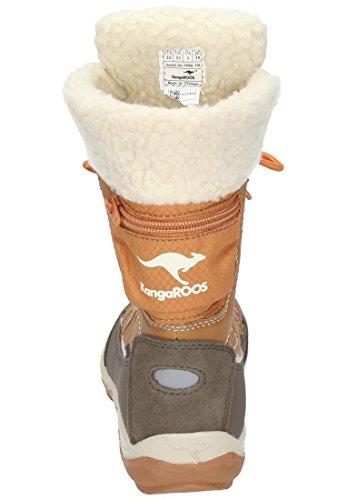 KangaSnowGirls 560310 off wheat Kangaroos M dchen 2 2020 Schneeboots Stiefel braun white IqzI0