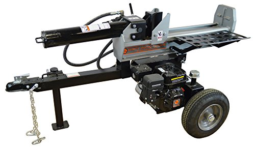 Frictionless World 101278 Half Beam Log Splitter, 22 Tons, Silver/Black