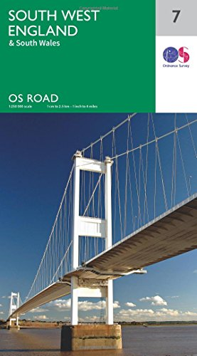 South West England (OS Road 7) (OS Road Map)