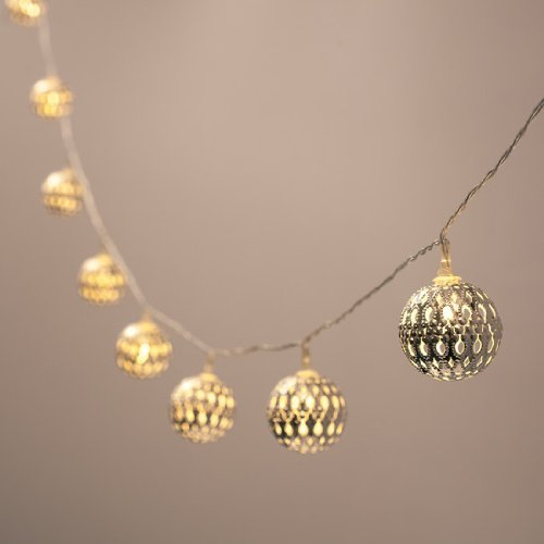 Battery Operated Silver Moroccan Lights product image