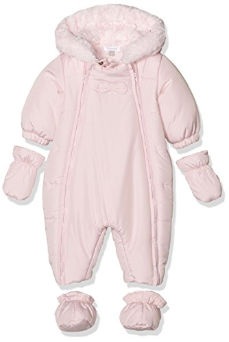 Outterwear romper suit hood soft pink fake fur lining baby girl absorba by absorba (Image #2)