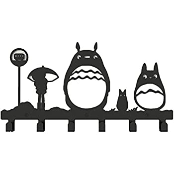 YOURNELO Metal Cute Totoro Wall Mounted Coat Rack 6 Hooks