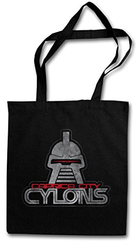 CAPRICA CITY CYLONS Reusable Hipster Shopping Cotton Bag Battlestar TV Kampfstern Series Galactica - Battlestar Galactica Caprica City