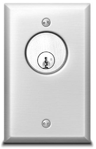 SDC 701U Key Switch, 1 Gang, Stainless Steel, AA SPDT