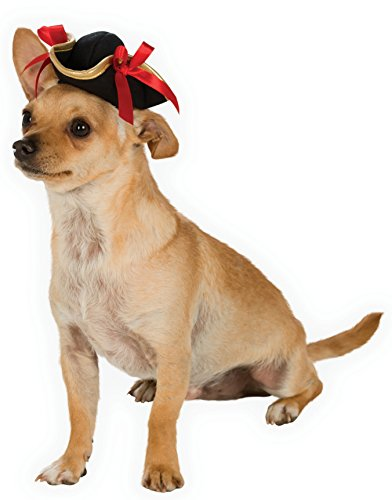 Dog Colonial Costumes (Rubies Costume Company Pirate Girl Hat Pet Costume Accessory,)