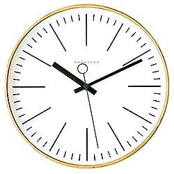 Marksson Collins Clock (White/Kale Green)
