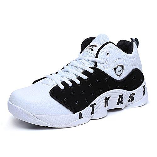 家事をすると遊ぶリンクSufoen 男女兼用 バスケットシューズ バッシュ ハイカットスニーカー ランニング フィットネスシューズ ジョギング 運動靴
