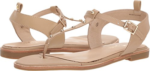 Gold Nappa Footwear - Yosi Samra Women's Calliste Camel/Gold Studs Nappa Leather 10 M US