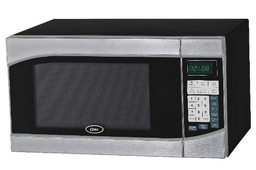 Oster OGH6901 0.9 Cubic Feet Digital Microwave Oven, Stainless/Black image