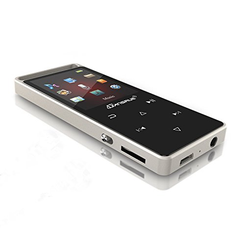 Price comparison product image MP3 Music Player with FM Radio,  2018 Dansrue 60 Hours Playback Metal Touch Screen Aduio MP3 Player for Christmas Xmas Gift,  Built-in 8GB Memory (Expandable Up to 128GB)