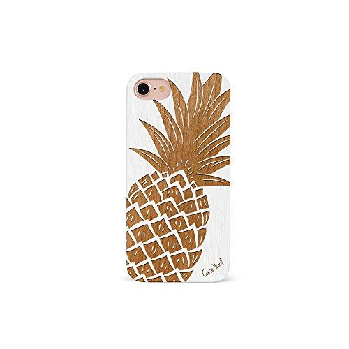 reputable site df5d1 2921b iPhone 7 Case, CaseYard [Wood Series] Slim Fit Stylish Hybrid Case for  Apple iPhone 7,Luxury Lightweight Premium Case (White)Pineapple