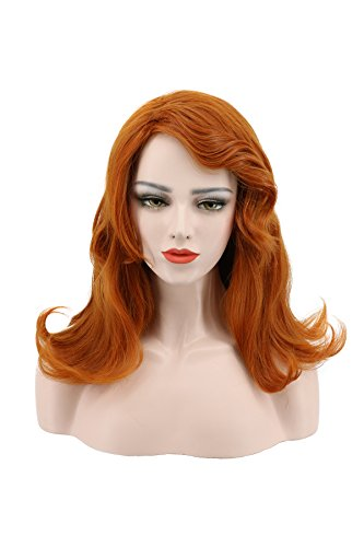 Karlery Short Wave Light Brown Wig with Bangs Halloween Costume Cosplay Party (Princess Amber Costumes)
