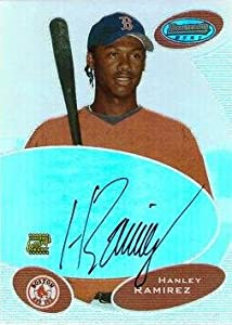 2003 Bowman's Best Baseball Autographs #BB-HR Hanley Ramirez Rookie Card - Near Mint to Mint