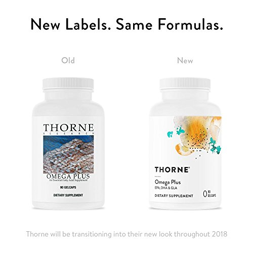 Thorne Research - Omega Plus - An Essential Fatty Acid Supplement with Omega-3 and Omega-6 - EPA, DHA, and GLA - 90 Gelcaps by Thorne Research (Image #1)