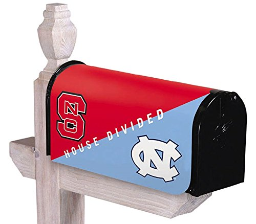 NCAA North Carolina Tar Heels (UNC) Vs. North Carolina State Wolfpack House Divided Mailbox Cover (Divided House Unc)