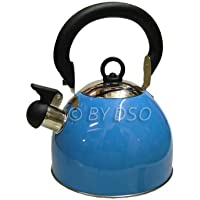 Prima 2.5L Stainless Steel Whistling Kettle in Blue