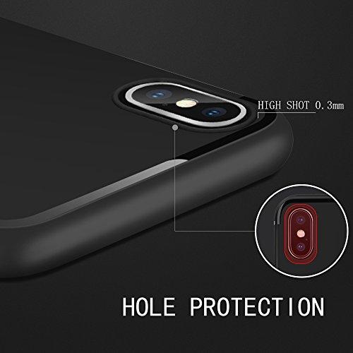 Swenky 아이폰 X 케이스 완벽한 슬림 피트 울트라 얇은 보호 시리..