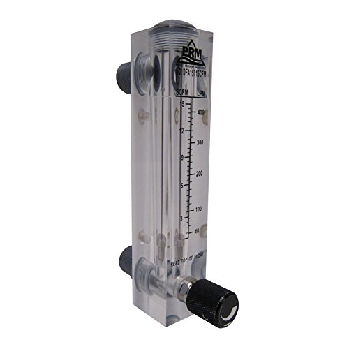 PRM AIR INJECTION / AIR SPARGE ROTAMETER WITH INTEGRATED FLOW VALVE; 1-15 CFM / 40-400 LPM