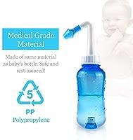 Limpiador Nasal - 300ml lavado nasal botella con 40 paquetes de sal, Lavado Nasal Irrigación Nasal Para Adultos & Niños