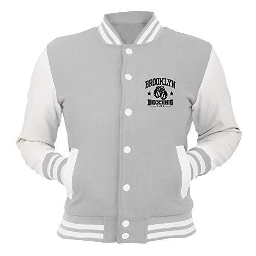 Giacca Tstem0014 shirtshock T Grigio College Boxing Brooklyn AL54Rj