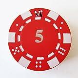 1x Red Poker Chip Refillable Butane Cigar Cigarette Lighter