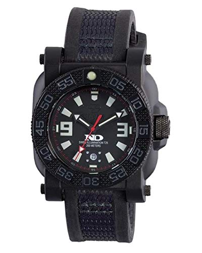 REACTOR Men's 73801 ''Gryphon'' Watch with Black Rubber Band
